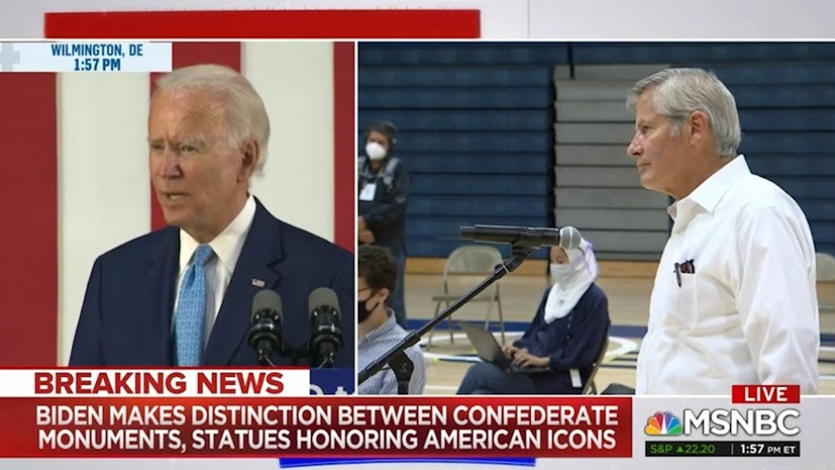 Joe Biden had a shocking response on Confederate statues I did not expect