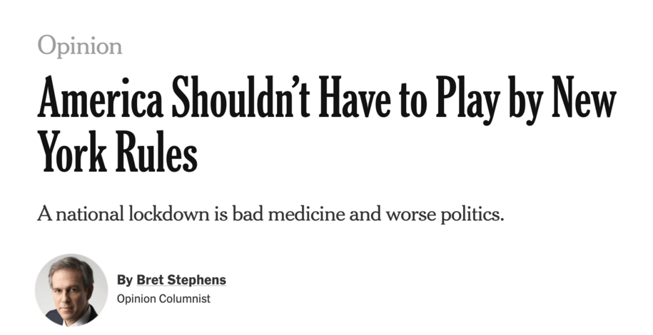 """Bret Stephens' April 24 Column has Turned Deadly. Perhaps IT should have been """"Canceled."""""""