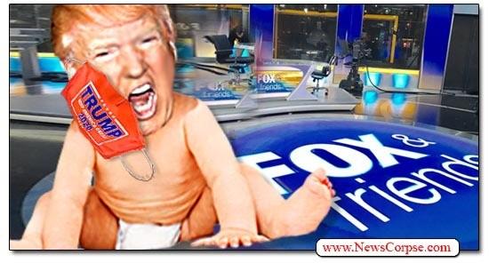 CRYBABY TRUMP Runs to Fox News Following His Latest Media Fiascoes