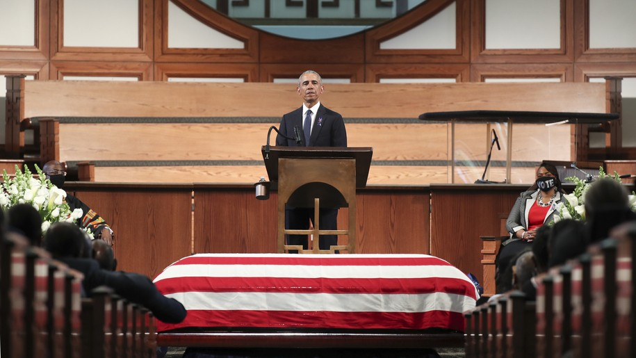 President Obama delivers both a touching eulogy and the most important political speech of the year