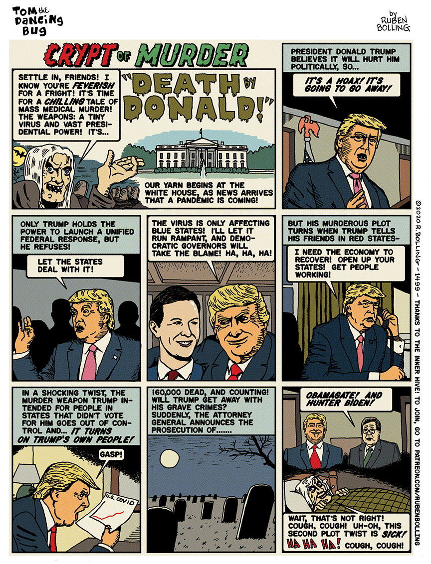 Cartoon: A tale from the Crypt of Murder: 'Death by Donald'