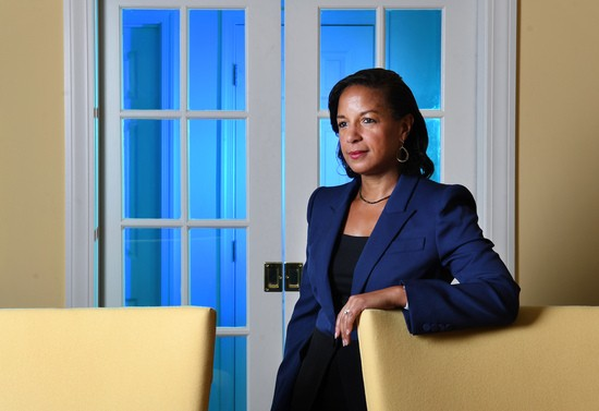 """WASHINGTON, DC - SEPTEMBER 18: Former United States Ambassador to the United Nations and National Security Advisor, Susan Rice poses for a portrait at her home on Wednesday September 18, 2019 in Washington, DC. She has a new book coming out entitled, """"Tough Love: My Story of the Things Worth Fighting For"""" (Photo by Matt McClain/The Washington Post via Getty Images)"""