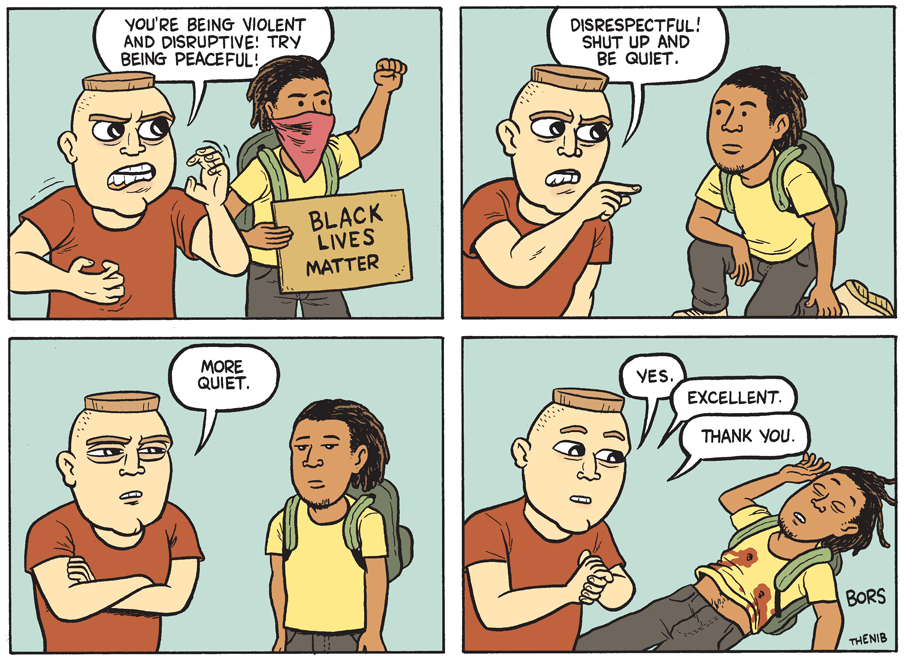 Cartoon: Silence is violence