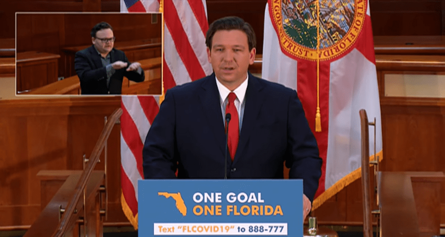 Trump's waterboy Gov. Ron DeSantis says reopening schools the same as killing bin Laden