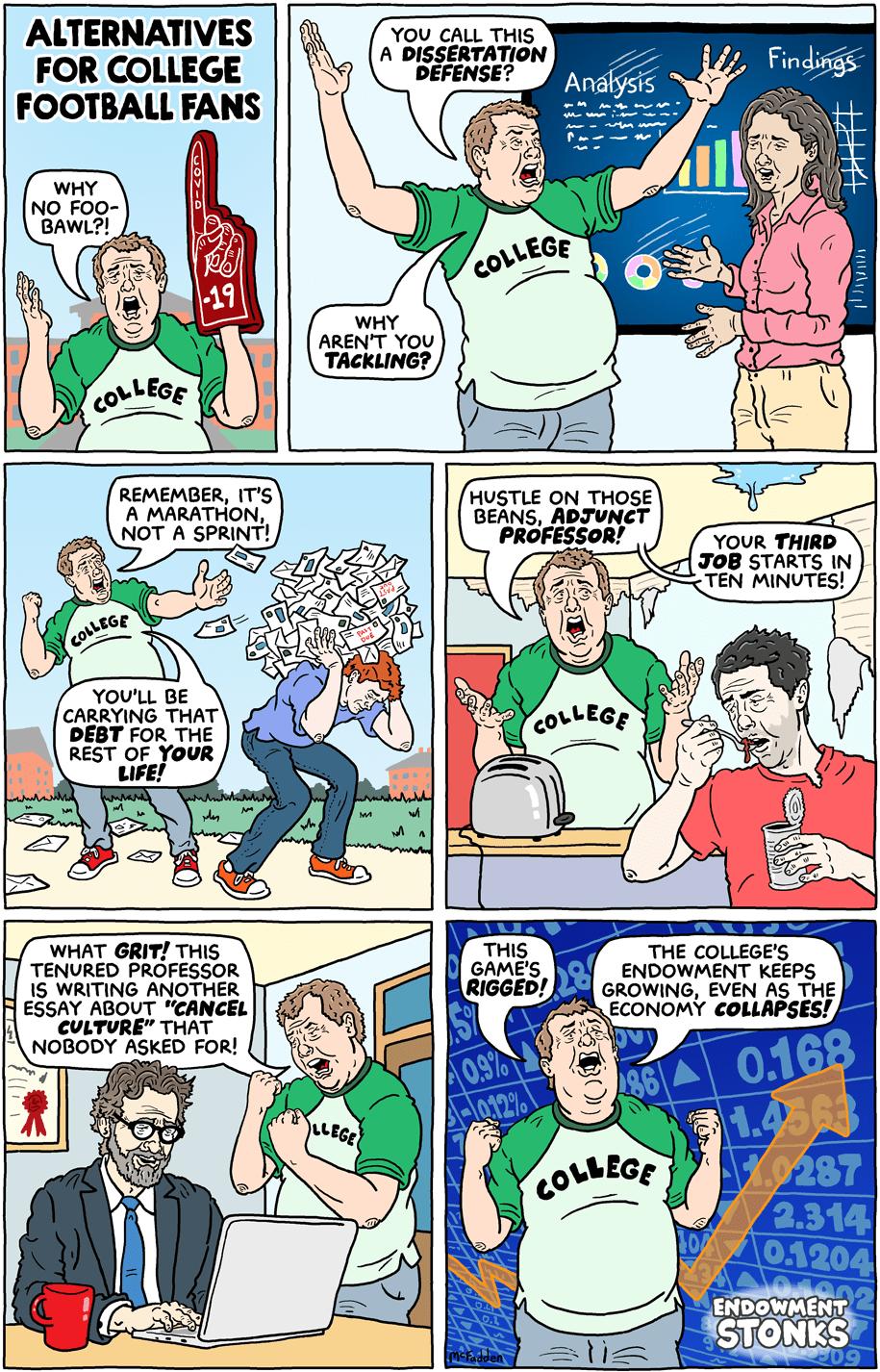 Cartoon: Alternatives for college football fans