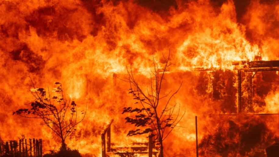 California wildfire.