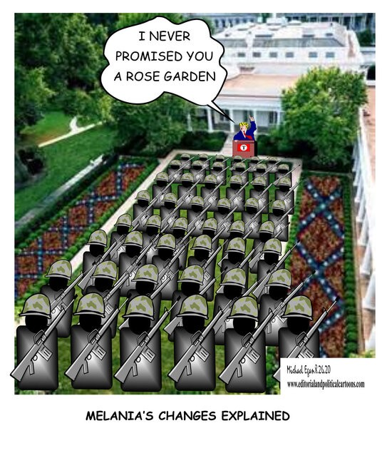 Melania's Rose Garden Changes