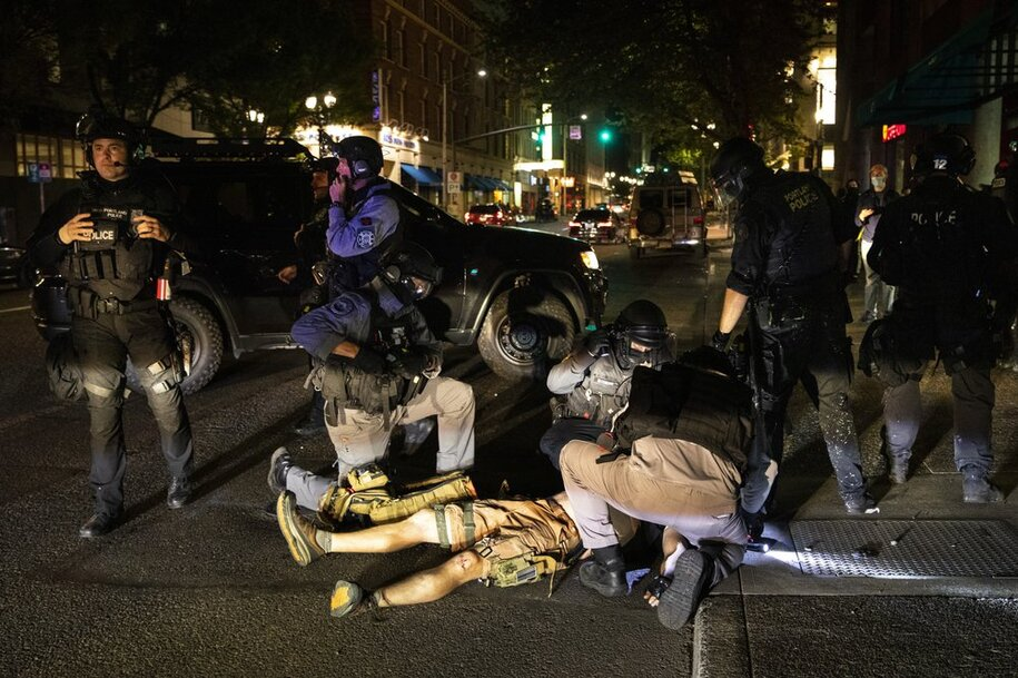 protester killed, this time in Portland