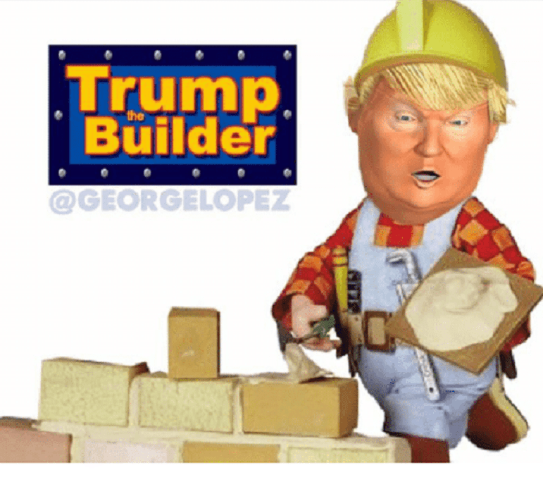 """The Builder-In-Chief says, """"I build great things and everybody talks about them"""" except for 1 place"""