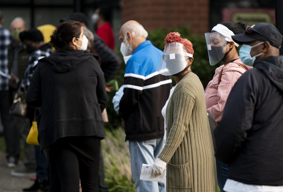 'If I've got to stand here all day, I'm gonna vote today'— long lines for first day of voting in VA