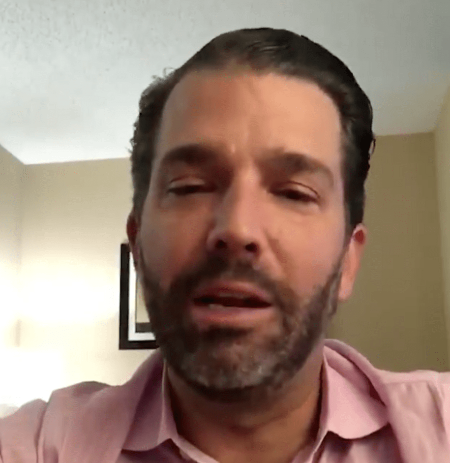 Good Lord, what is going on with Don Jr. in this video?