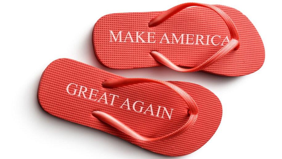 Flip Flops used to mean footwear, now it means Republican trait. My flip flops were harmless
