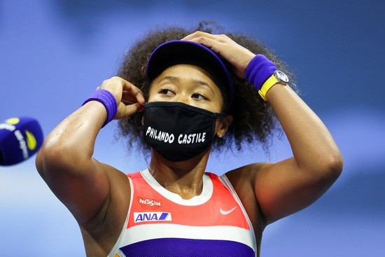 NEW YORK, NEW YORK - SEPTEMBER 10: Naomi Osaka of Japan speaks after winning her Women's Singles semifinal match against Jennifer Brady of the United States on Day Eleven of the 2020 US Open at the USTA Billie Jean King National Tennis Center on September 10, 2020 in the Queens borough of New York City. (Photo by Al Bello/Getty Images)