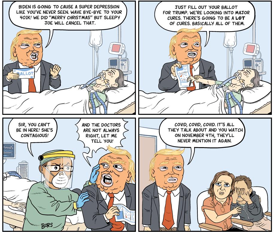 Cartoon: Trump's last push for votes