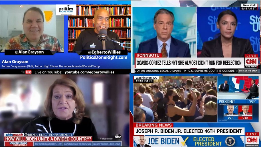 Fmr. Congressman Alan Grayson challenges progressive attacks, AOC slaps back, Van Jones, & more