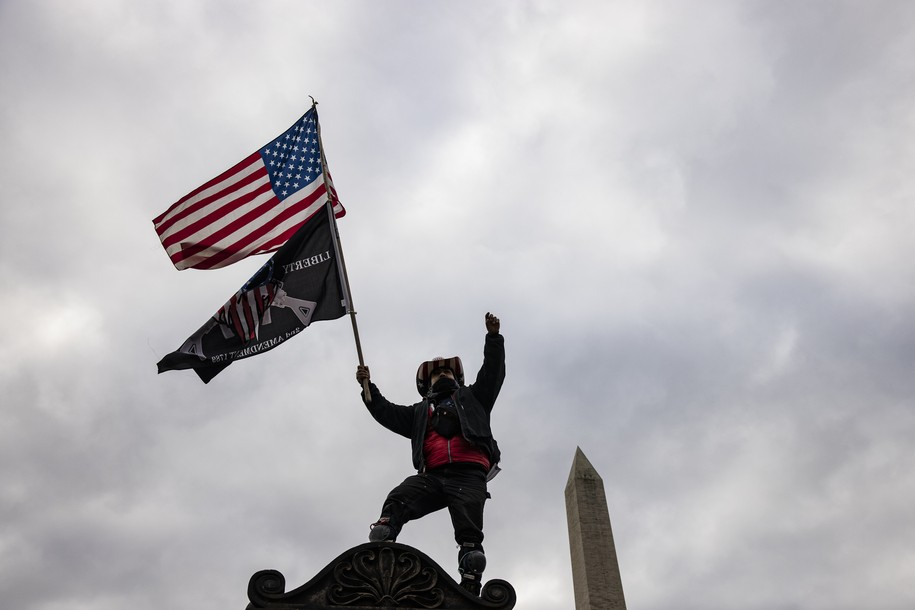 WASHINGTON, DC - JANUARY 06: Supporters of President Donald Trump flock to the National Mall by the tens of thousands for a rally on January 6, 2021 in Washington, DC. Trump supporters gathered in the nation's capital today to protest the ratification of President-elect Joe Biden's Electoral College victory over President Trump in the 2020 election. (Photo by Samuel Corum/Getty Images)