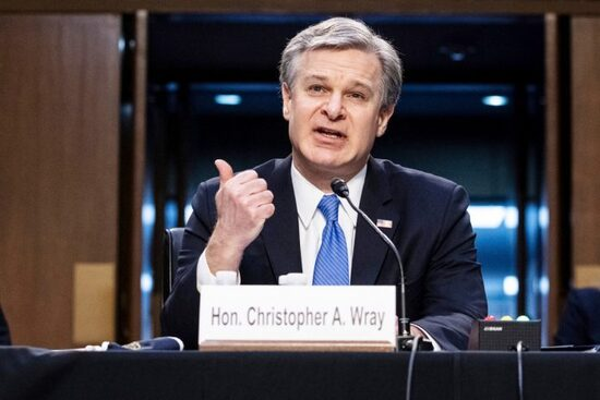 "2 Mar 2021 to Senate Judiciary Cmte., Wray didn't read an FBI Norfolk SIR telling of threat for attack on Congress until ""days"" after Jan. 6"