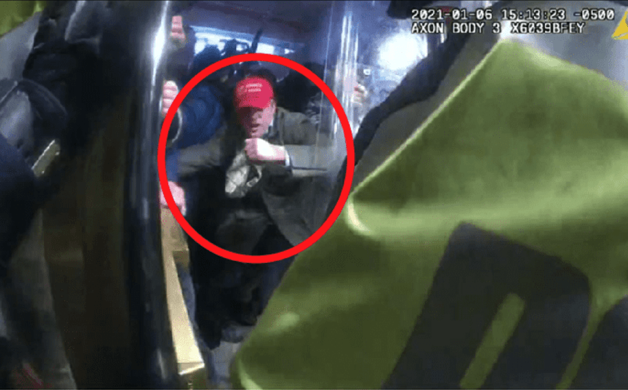 Images reporting to show former Trump appointee Frederico Klein actively participating in breaking into the Capitol building in Washington, D.C. on Jan. 6 were filed by the FBI along with charges against him.