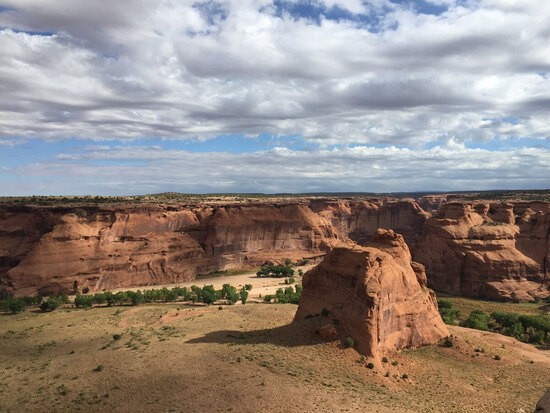 A portion of Canyon de Chelly National Monument: