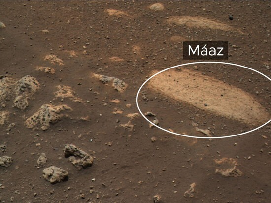 First rock to be targeted for drilling by Perseverance rover.