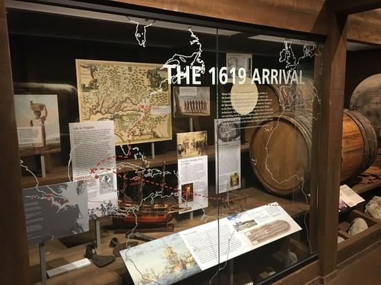 1619 Landing exhibit