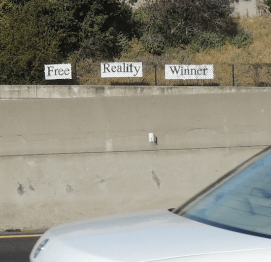 free reality winner sign on third week