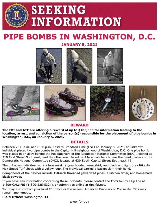 Information on suspected DC bombers