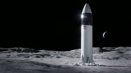The proposed next generation lunar lander created by SpaceX