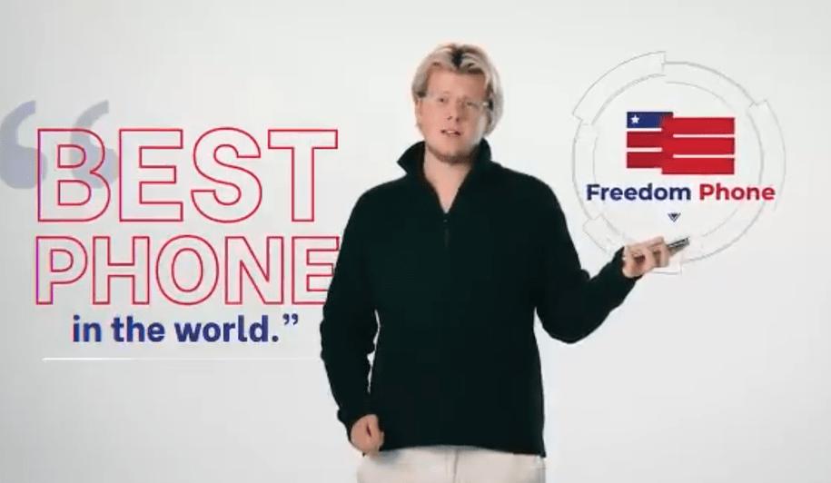 Erik Finman pushing the Freedom Phone