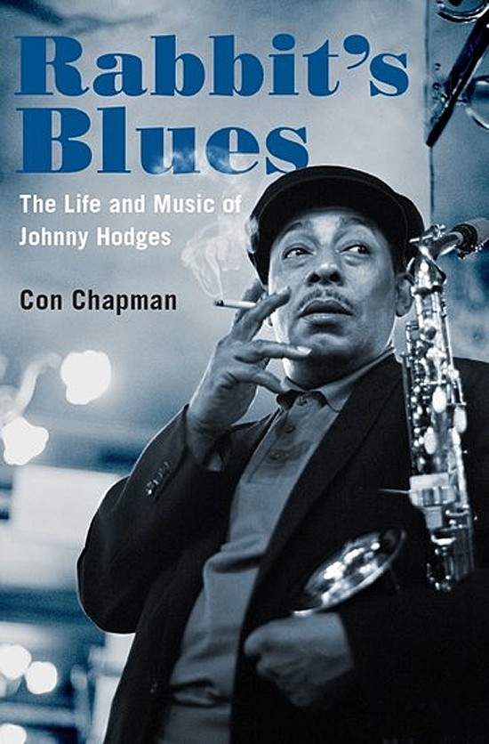 Book cover.  Biography of alto saxophonist Johnny Hodges