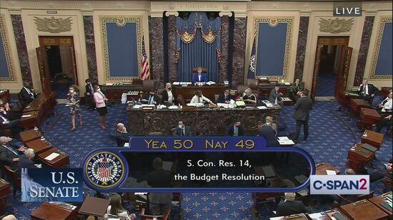 Senate vote on $3,5 trillion budget resolution, 8/11/2021