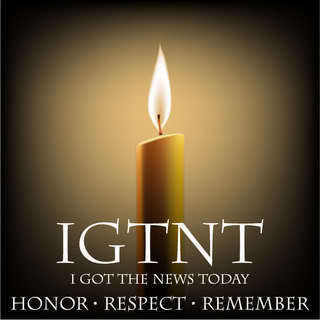 """IGTNT logo: a lit candle with the group name together with the words """"honor, respect, remember."""""""