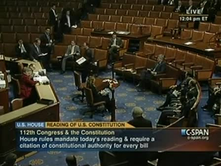 Congress fucks up reading of constitution